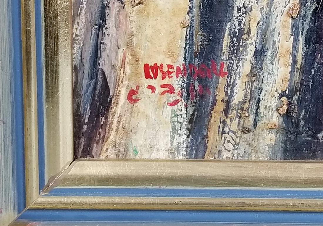 "Framed Oil on Canvas ""Rabbi checking his Lulav on - 5"