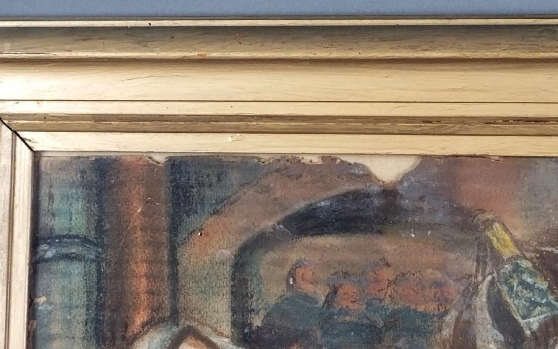 "Framed Glosh Pencil on Paper ""Rabbi Kissing Torah in - 5"
