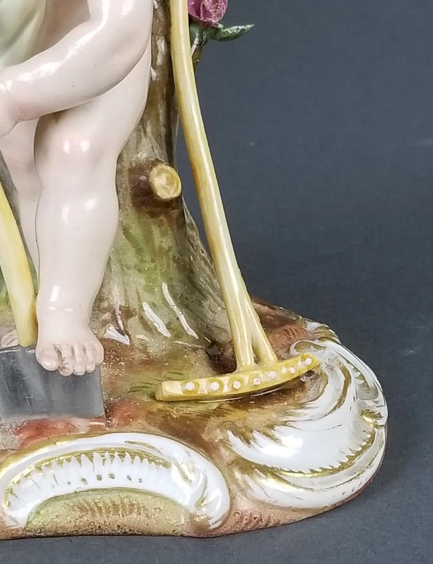 19th C. Meissen Figure of Gardener - 3