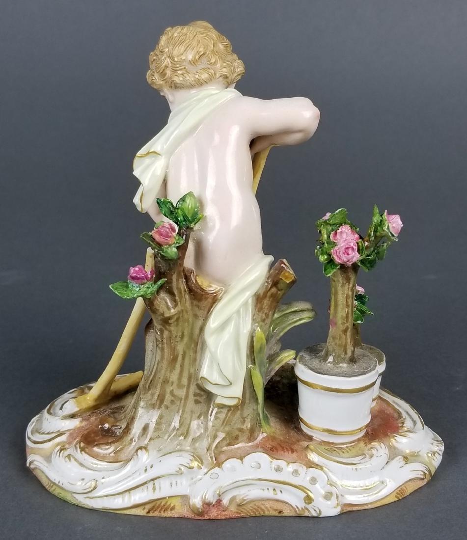19th C. Meissen Figure of Gardener - 4