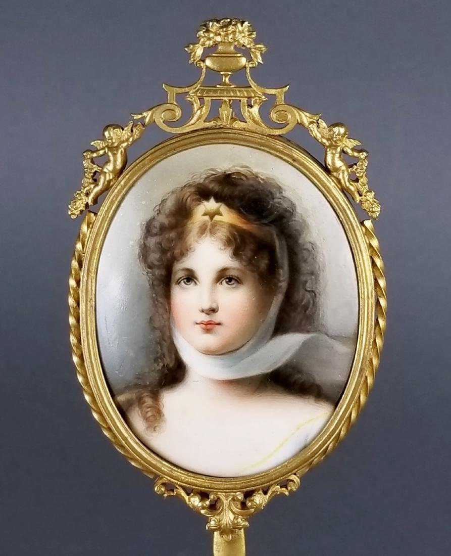 19th C. German Hand Painted Porcelain Plaque Hand - 2