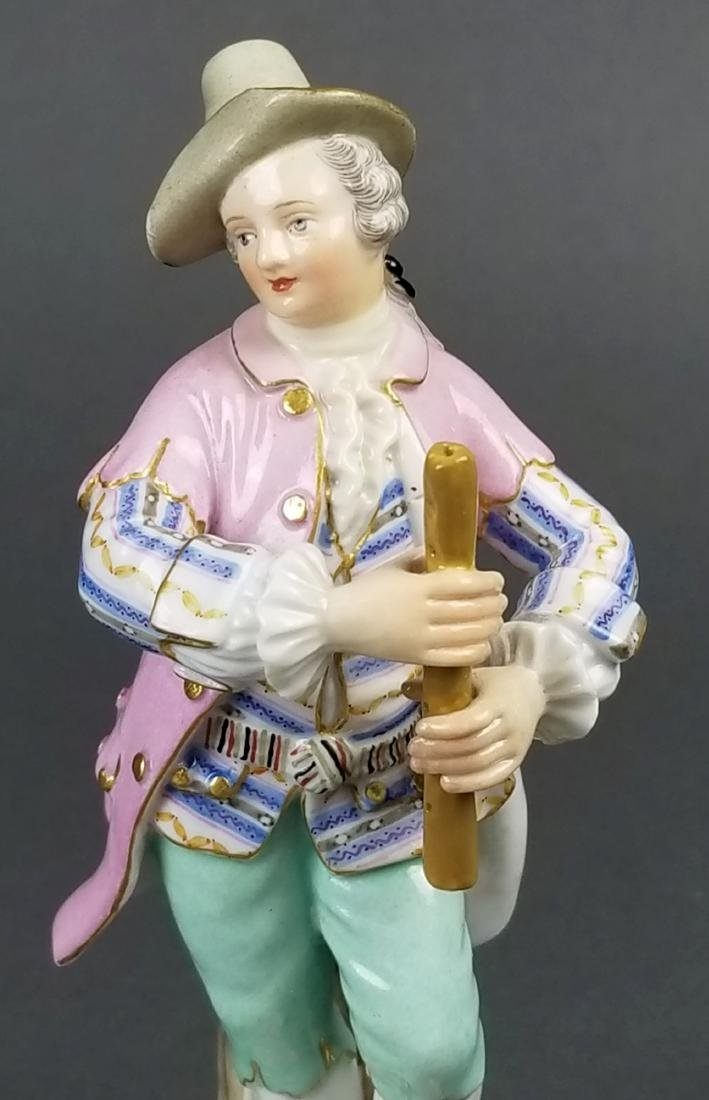 19th C. Meissen Figure of Musician - 2