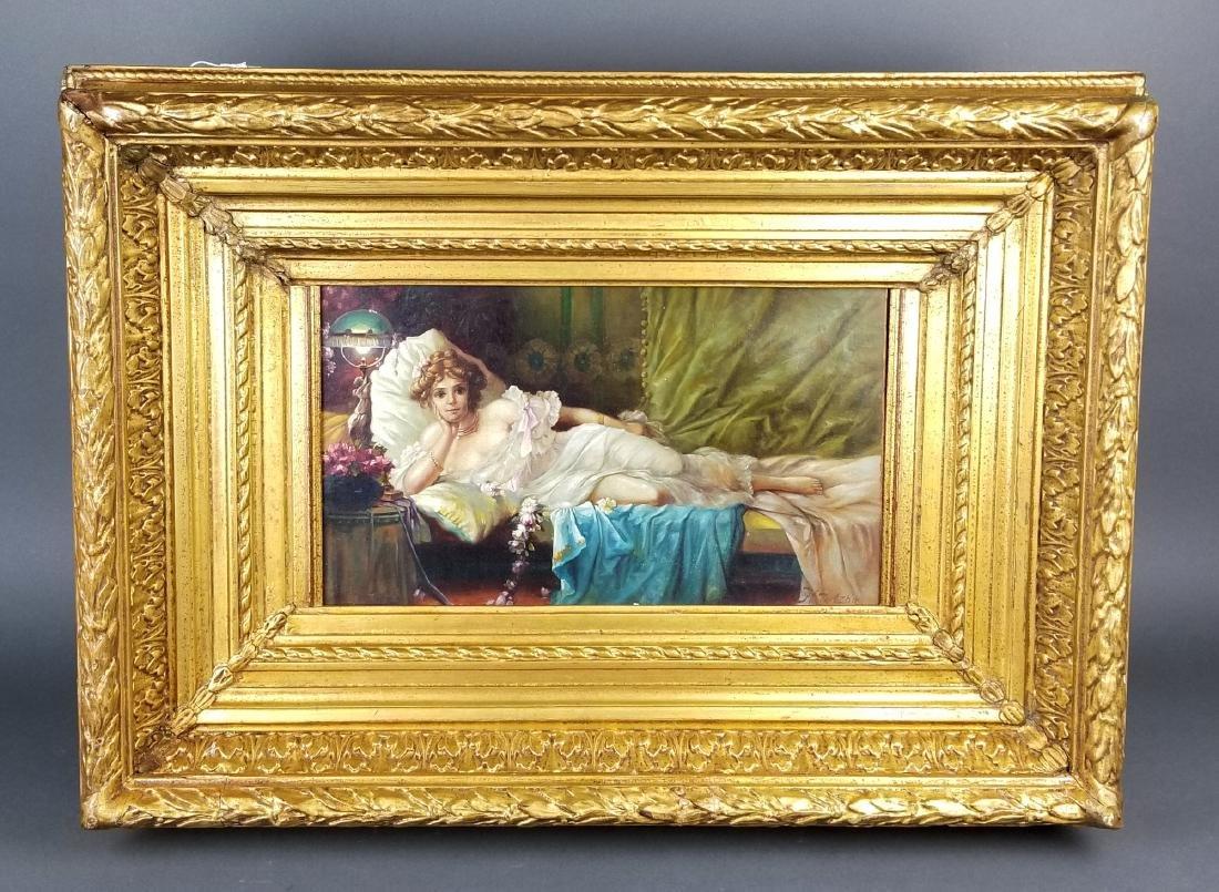19th C. Framed Oil on Canvas Signed H. Zatzka