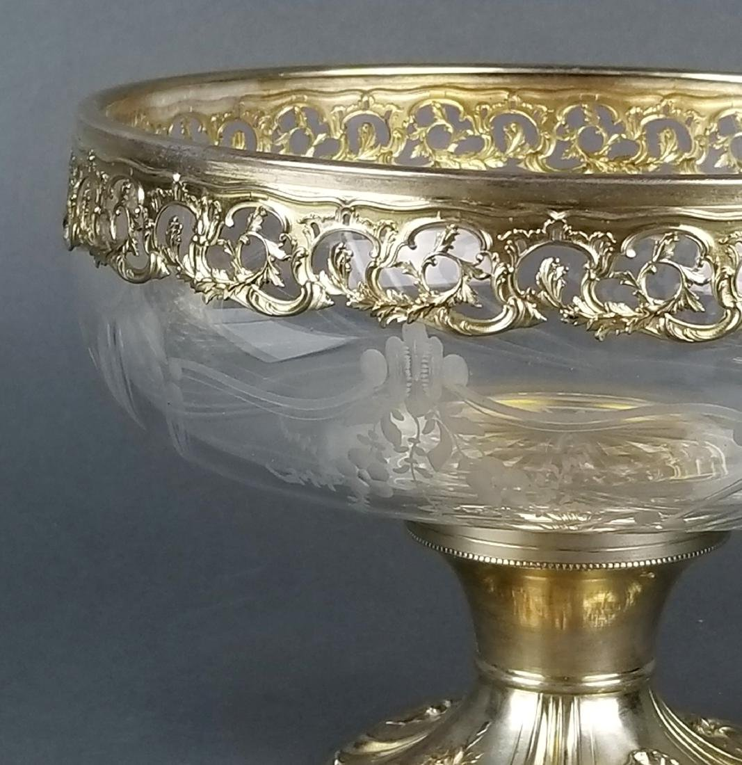 19th C. German Silver and Crystal Centerpiece - 2