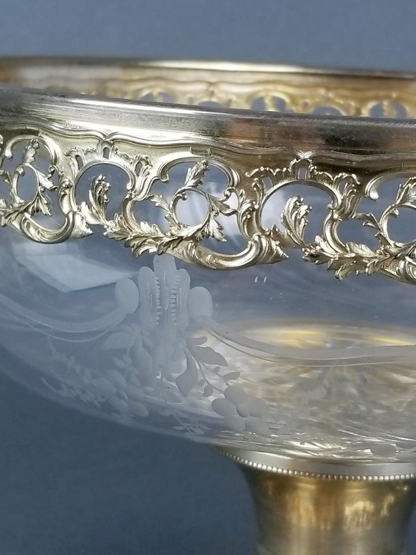 19th C. German Silver and Crystal Centerpiece - 3