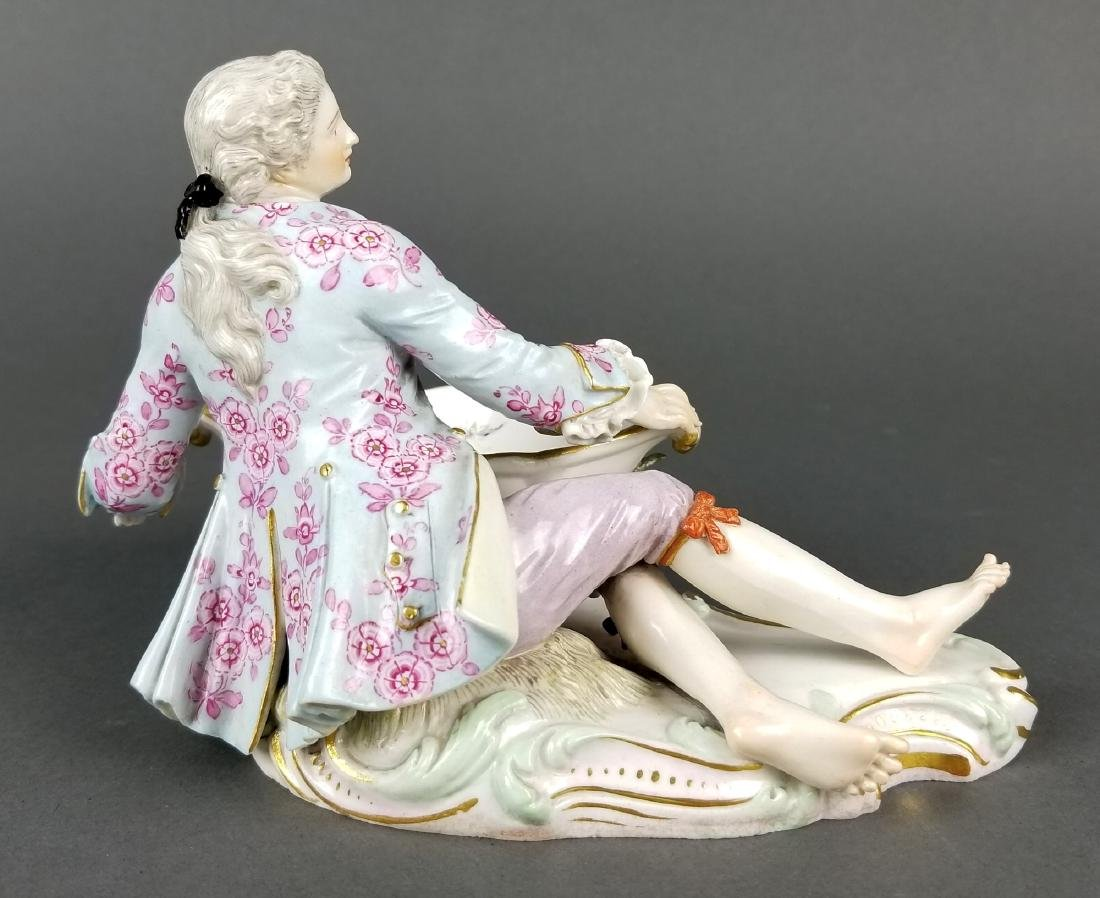 Pair of 19th C. Meissen Sweet Meat Figural Dishes - 9