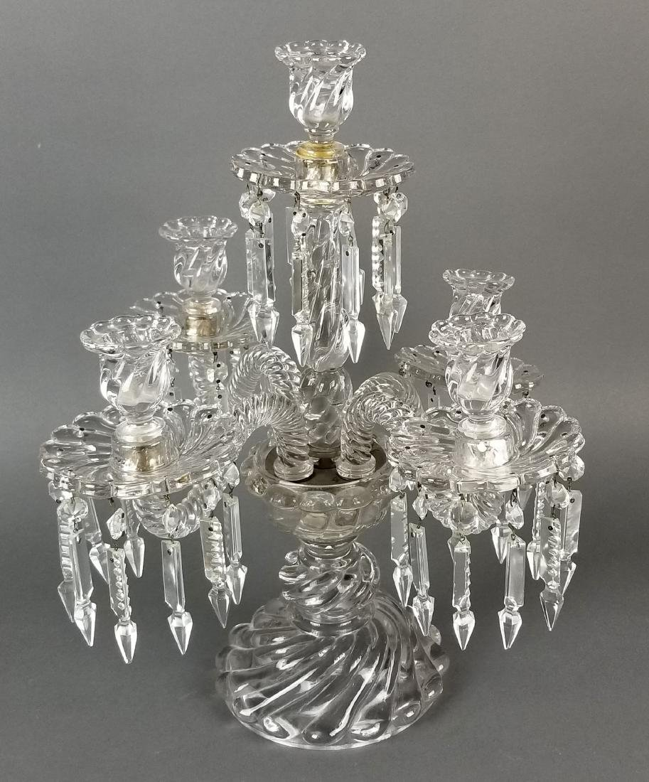 19th C. French Pair of Baccarat Crystal Candelabras - 2