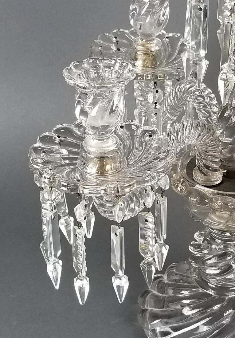 19th C. French Pair of Baccarat Crystal Candelabras - 3