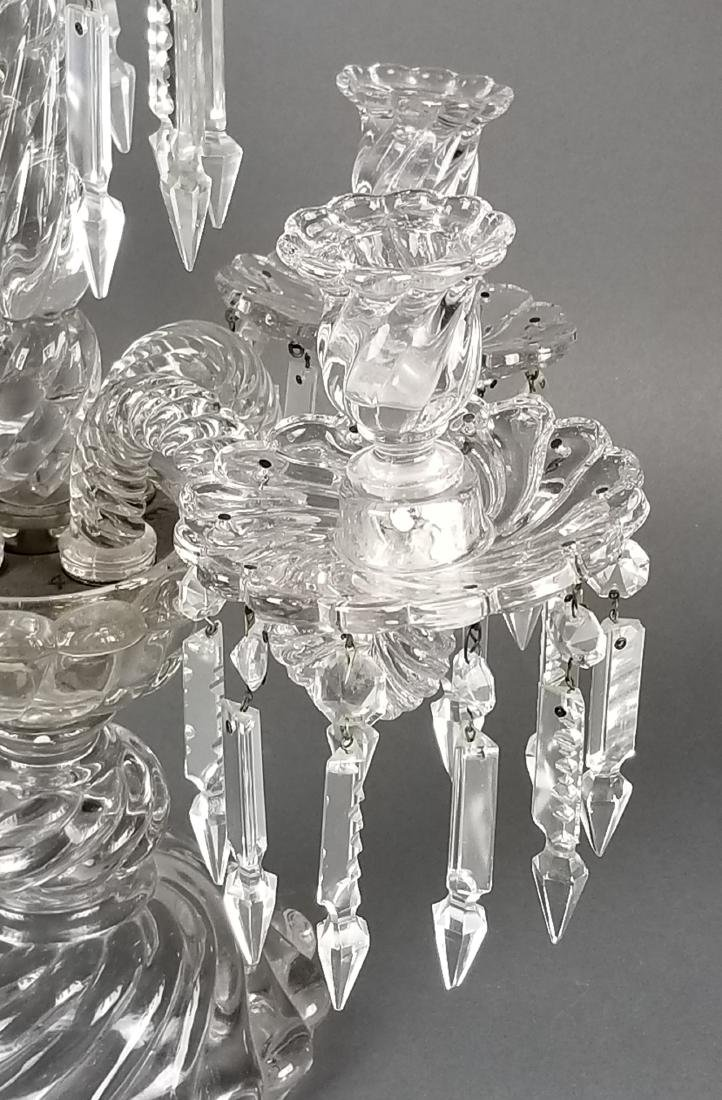 19th C. French Pair of Baccarat Crystal Candelabras - 4
