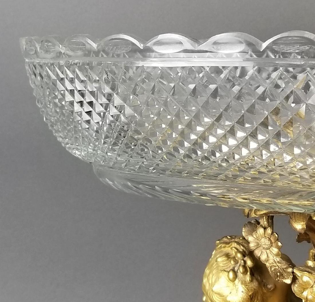 19th C. Large Bronze and Baccarat Crystal Centerpiece - 3