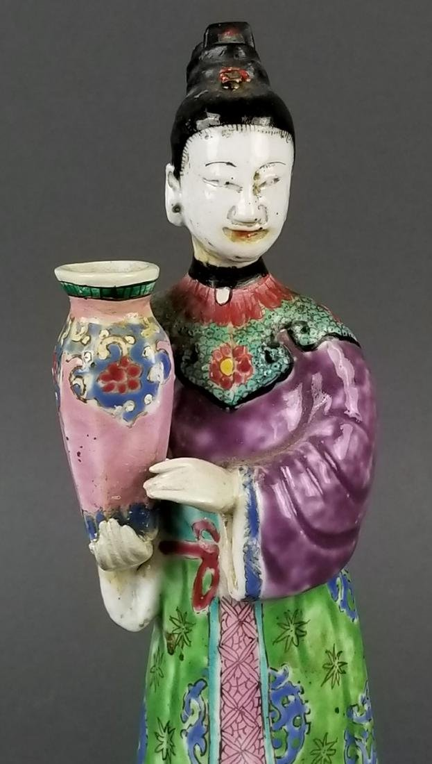19th C. Chinese Porcelain Figure - 2