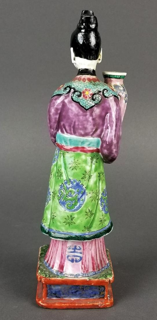 19th C. Chinese Porcelain Figure - 4