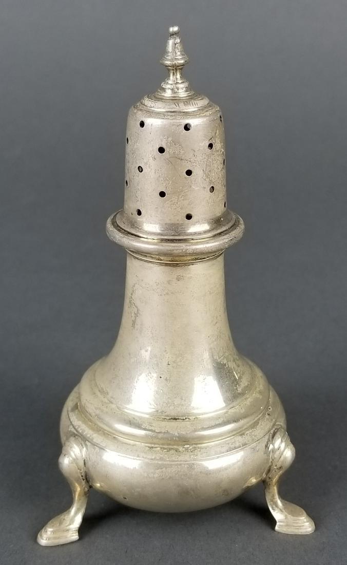 Pair of Sterling Silver Salt Shakers - 2