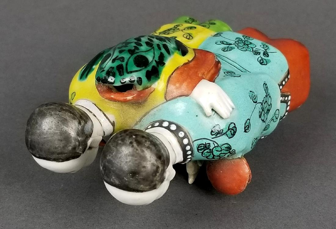19th C. Japaenese Porcelain Figural Group - 3