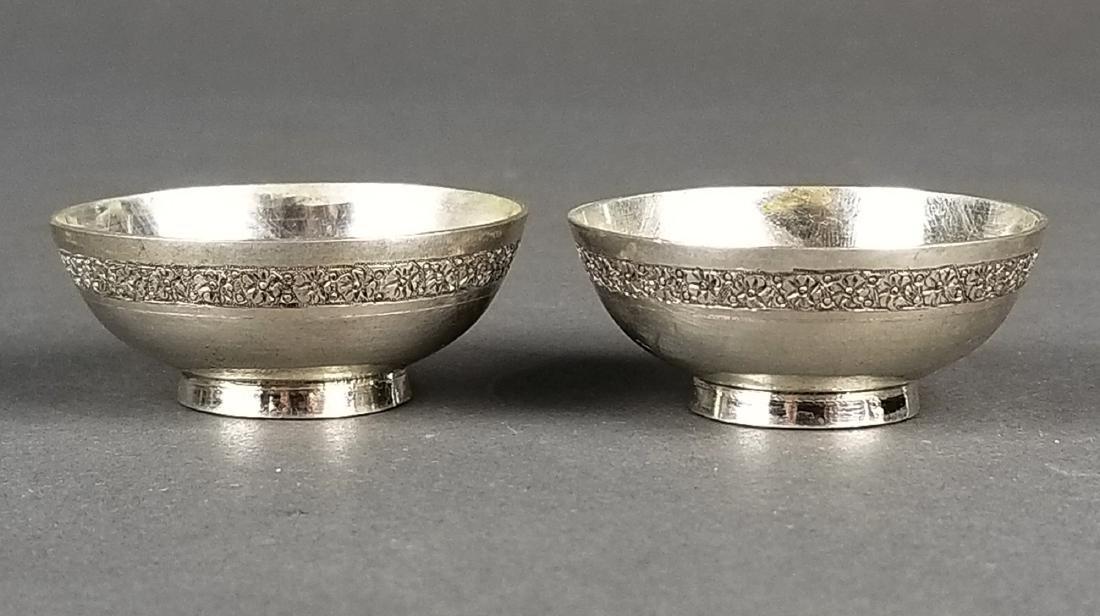 Pair of Persian 84 Silver Bowls