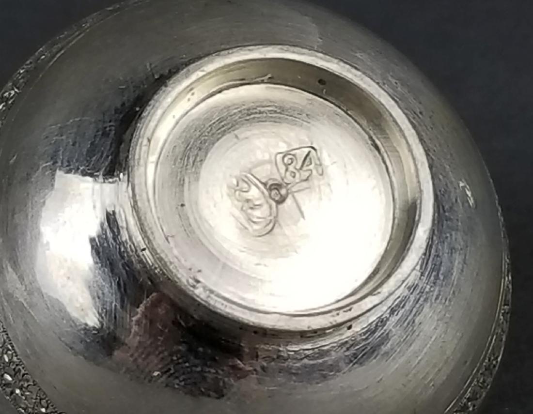 Pair of Persian 84 Silver Bowls - 2
