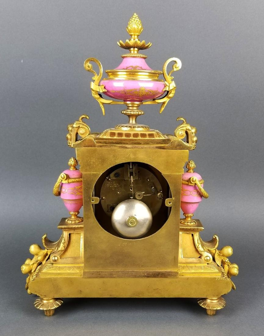 19th C. French Sevres Bronze and Porcelain Clockset - 6