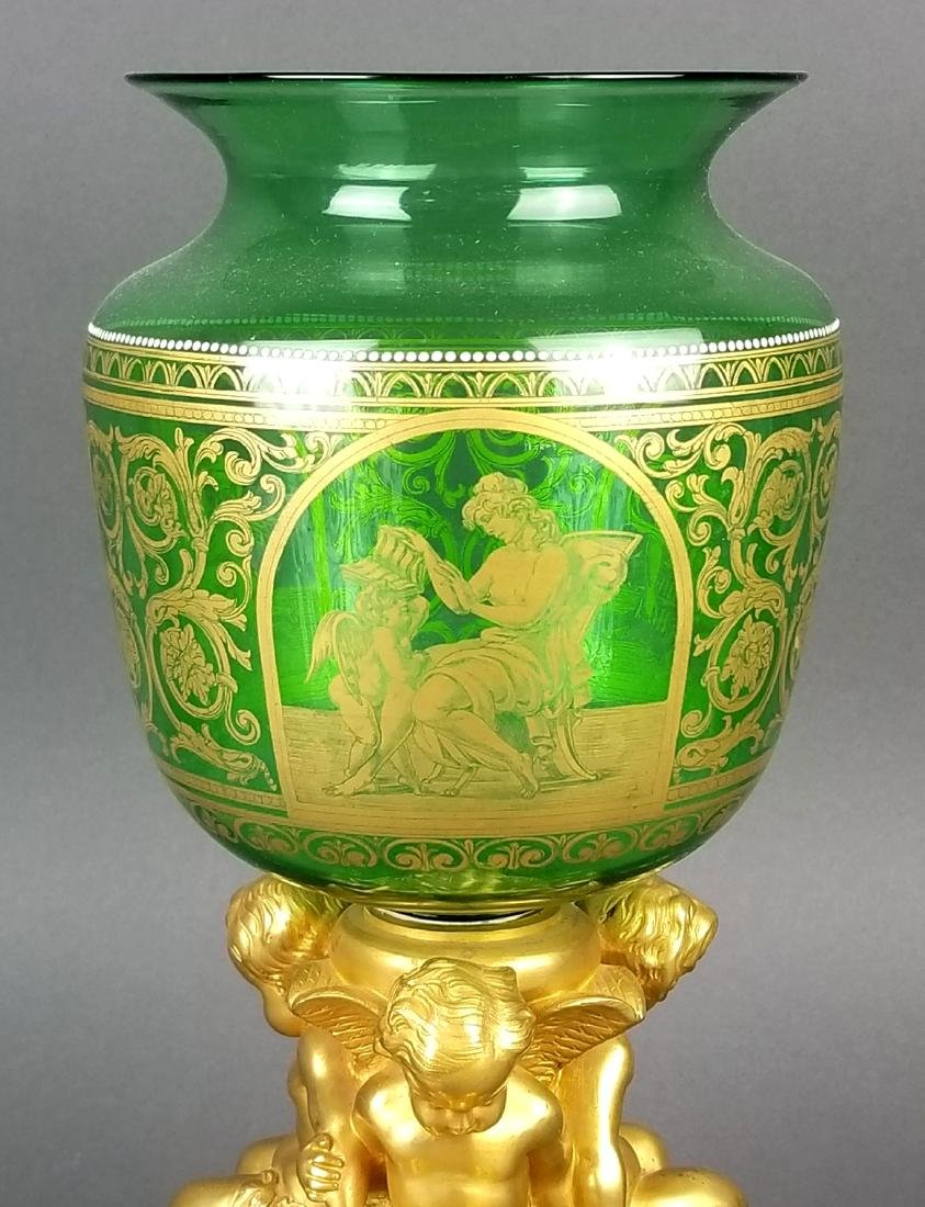 19th French Bronze and Crystal Vase - 2
