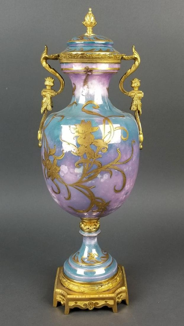 19th C. Handpainted Sevres French Vase - 6