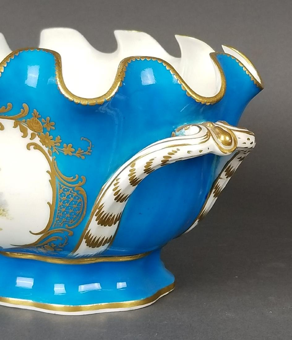 19th C. Pair of Sevres French Porcelain Vases - 3
