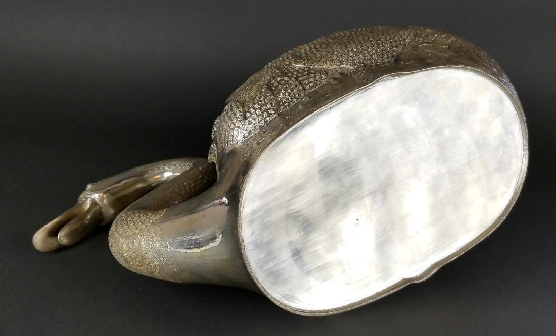 Persian Silver Hand Hammered/ Engraved Swan - 6