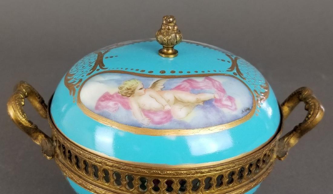 Ovington Porcelain & Bronze Covered Jewelry Box - 2