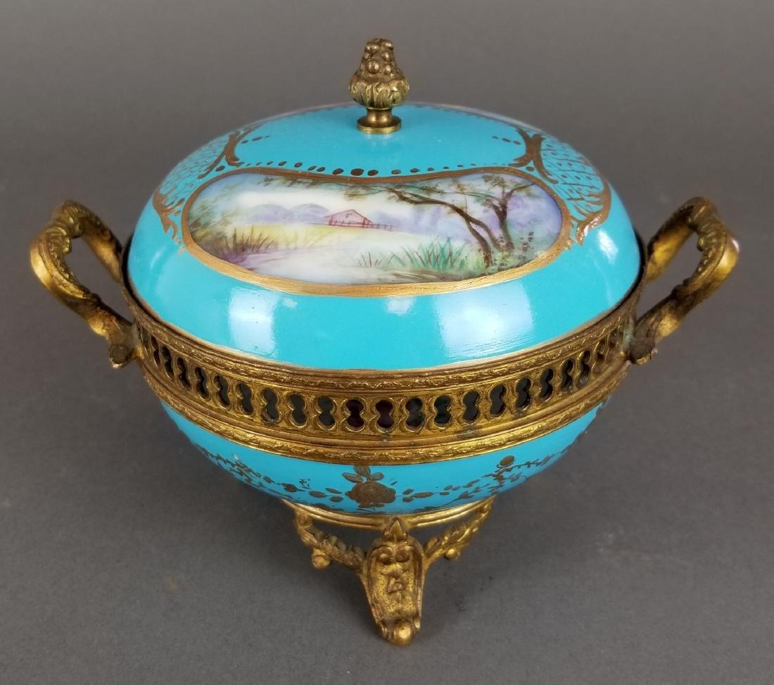 Ovington Porcelain & Bronze Covered Jewelry Box - 3