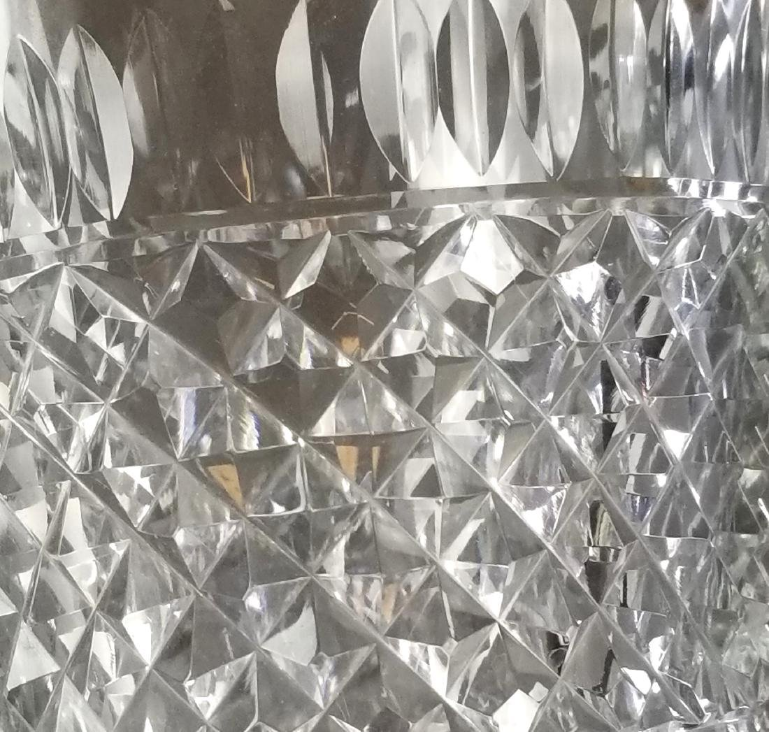 French Baccarat Cut Crystal & Bronze Bucket - 3