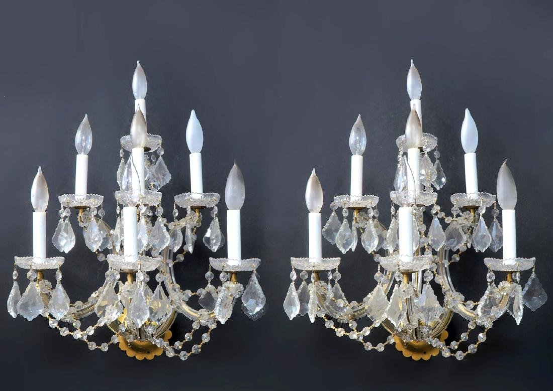 Pair of Baccarat Style Sconces 7 lights Each