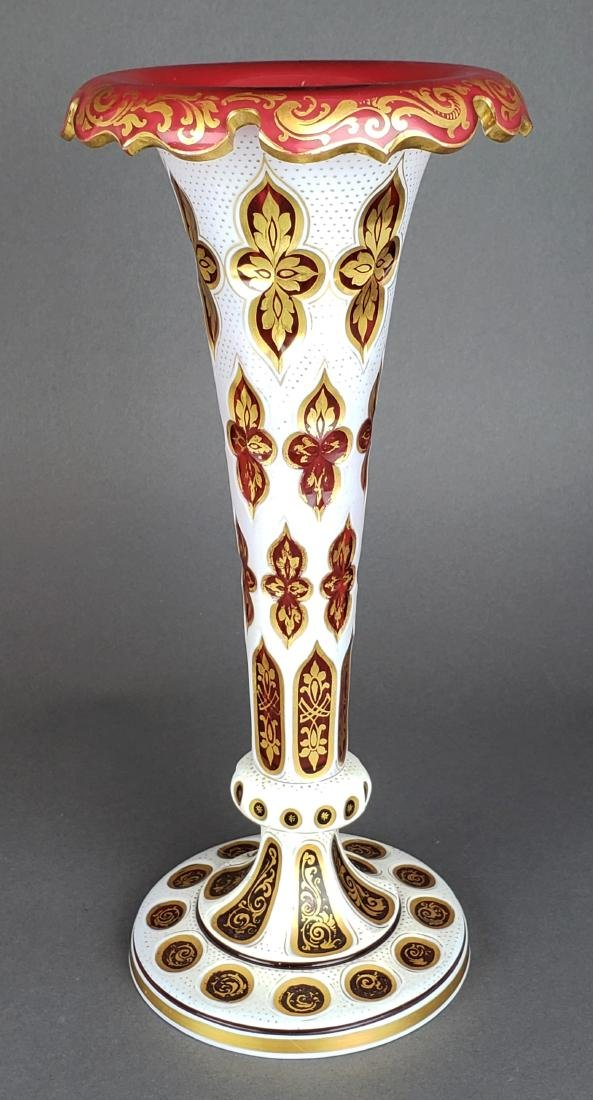 Pair of Large 19th C. Bohemian Vases - 2