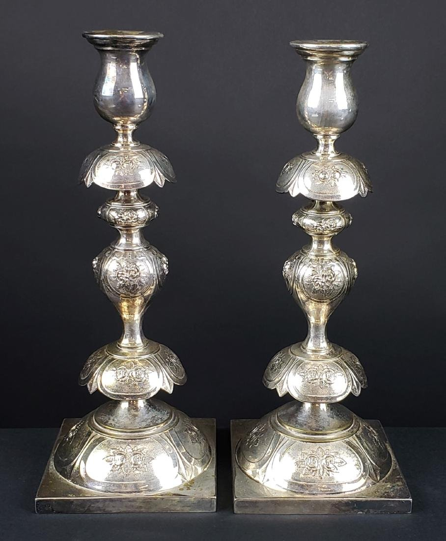 Pair of Silverplated Candlesticks, C. 1930's
