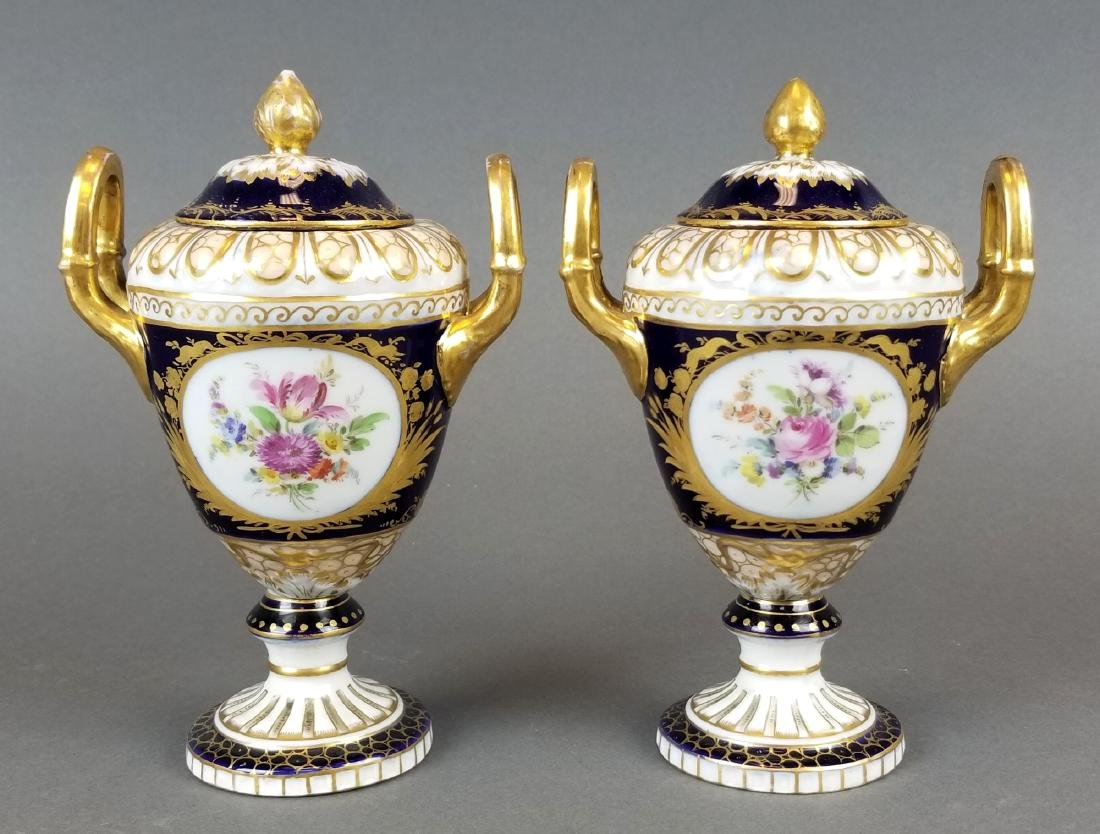 Pair of Royal Vienna Vases, 19th C. - 2