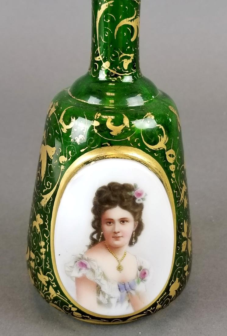 Bohemian Hand Painted Decanter - 2