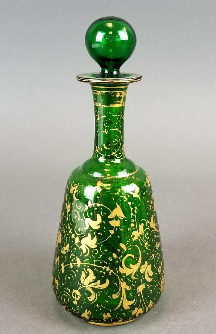 Bohemian Hand Painted Decanter - 4