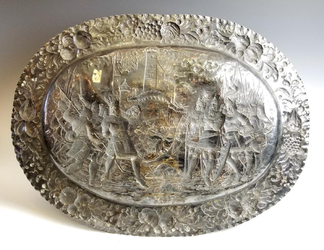 Late 18th C. European Sterling Silver Figural Tray - 7