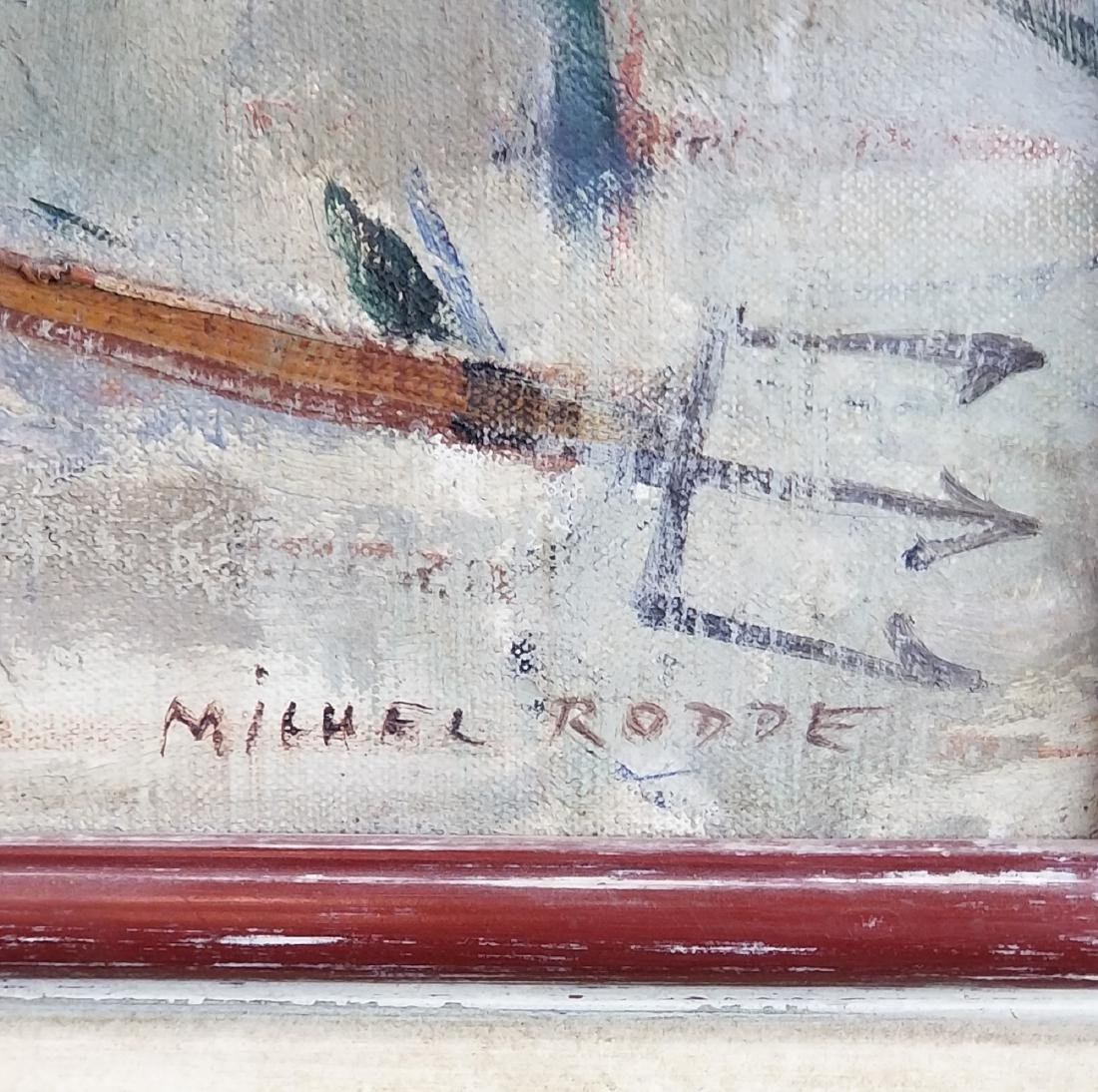 Oil on Canvas of Man Signed Michel Rodde - 3