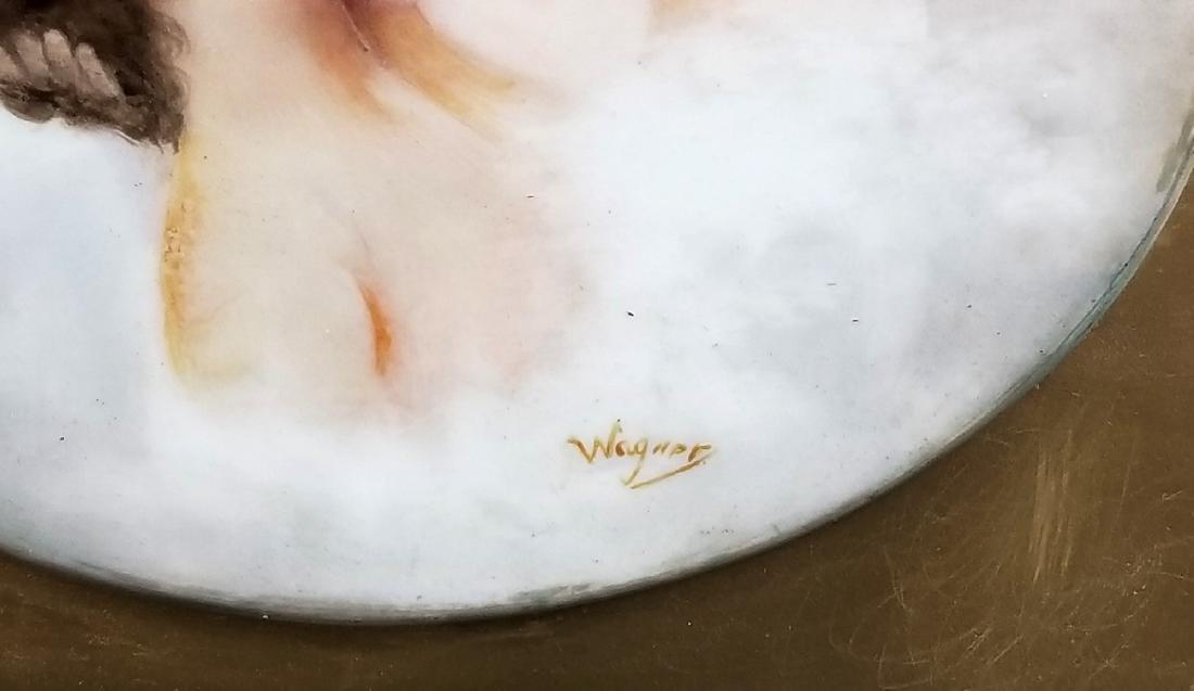 """19th C. KPM Porcelain """"Kiss"""" Plaque - 3"""
