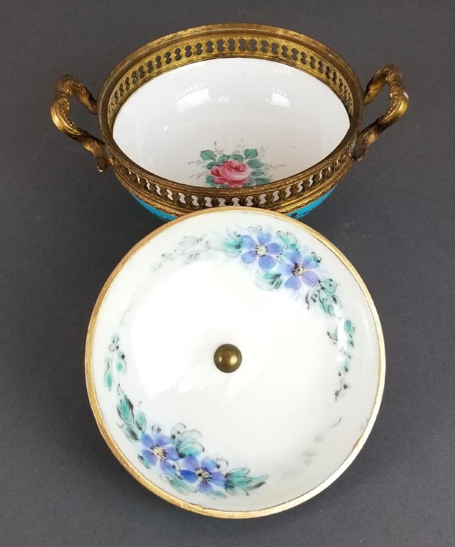 Ovington Porcelain & Bronze Covered Jewelry Box - 4