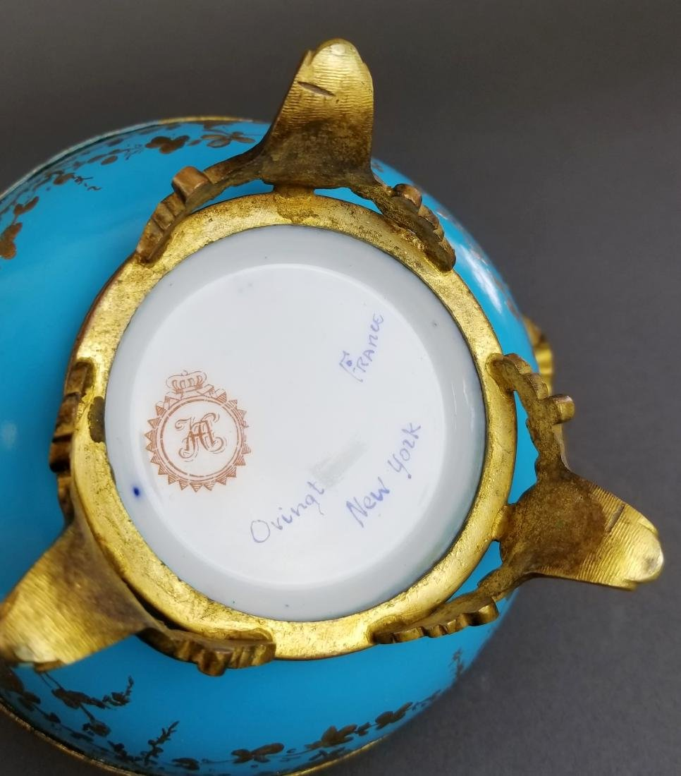 Ovington Porcelain & Bronze Covered Jewelry Box - 5