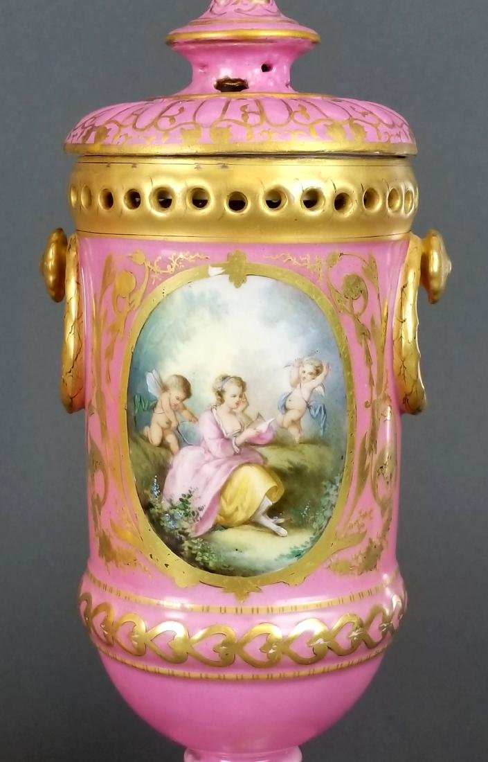 Pair of French Sevres Handpainted Vases - 3