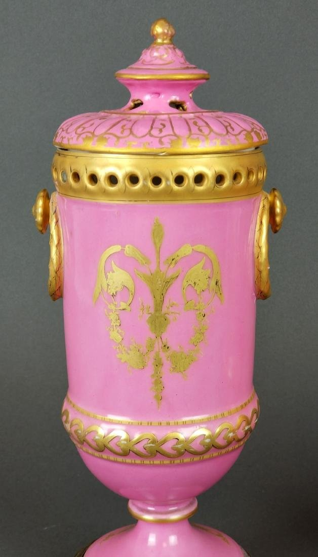 Pair of French Sevres Handpainted Vases - 5