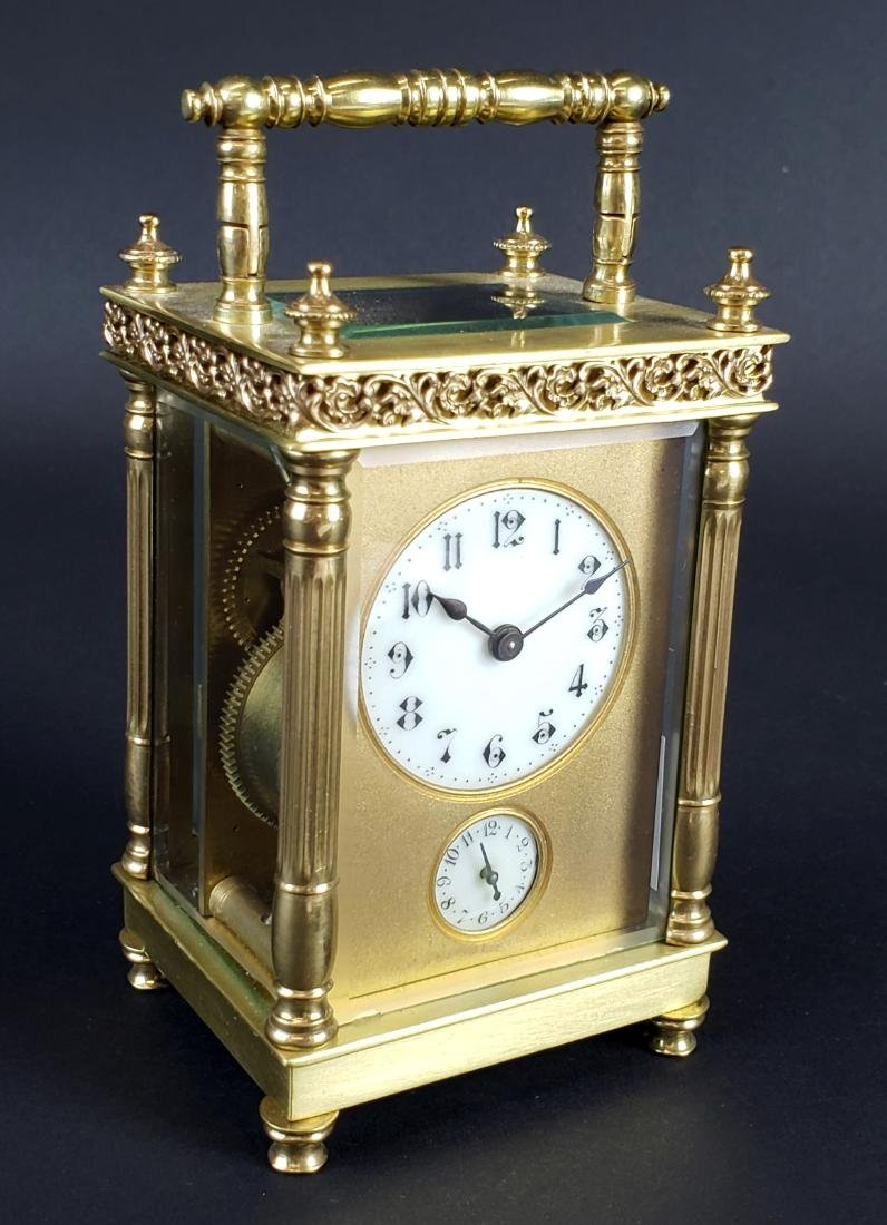 19th C. French Brass Carriage Clock