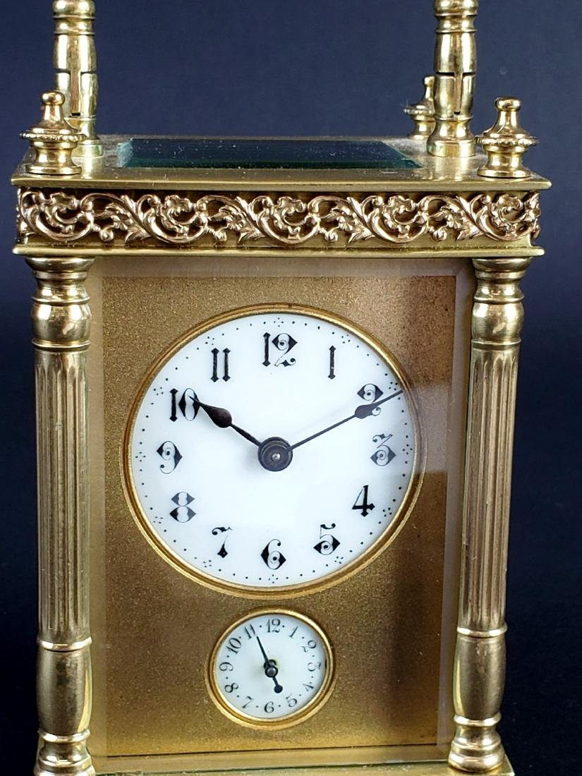 19th C. French Brass Carriage Clock - 2