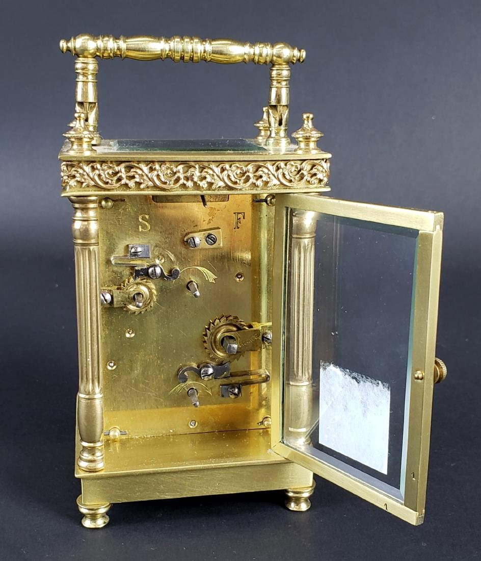19th C. French Brass Carriage Clock - 4