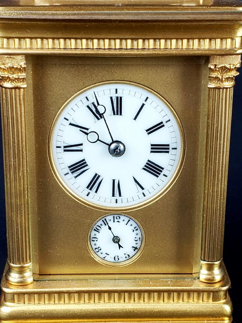 19th C. French Brass Carriage Clock - 3
