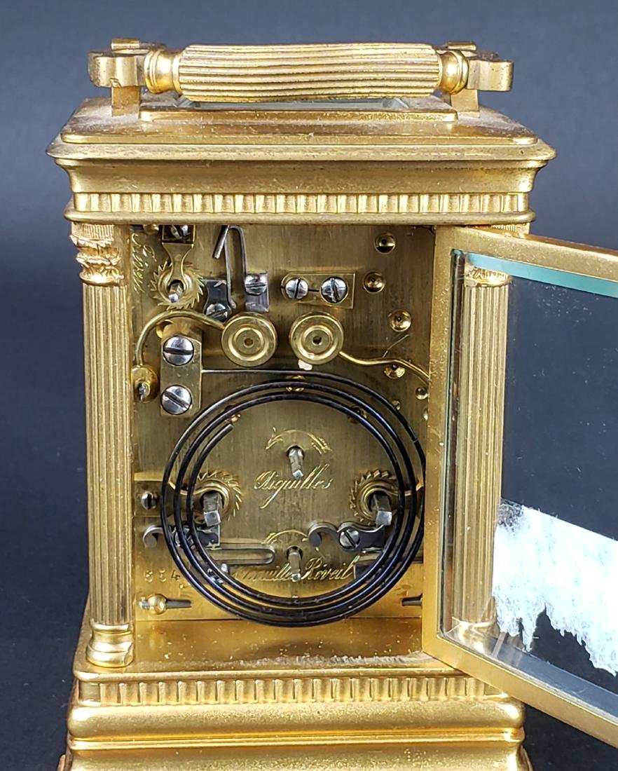 19th C. French Brass Carriage Clock - 5