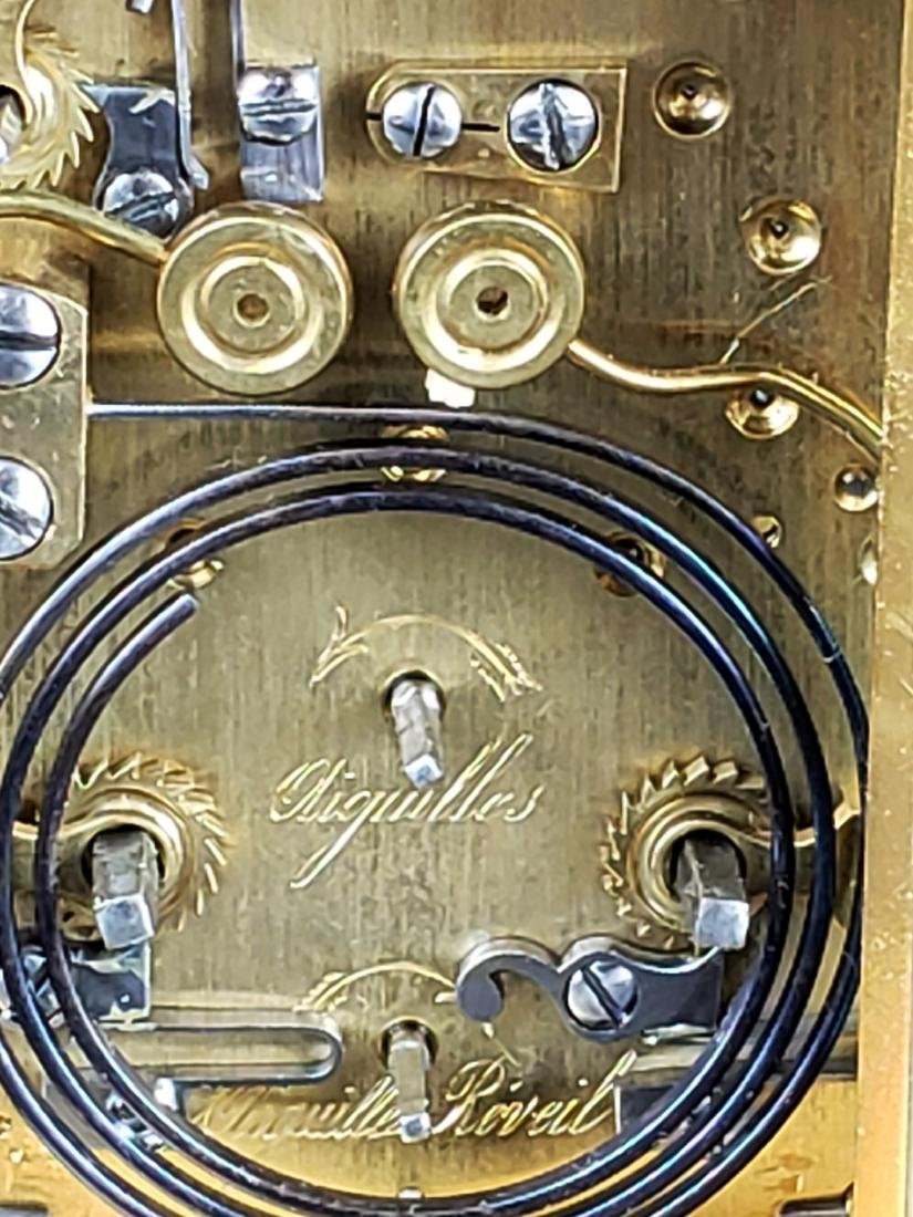 19th C. French Brass Carriage Clock - 6