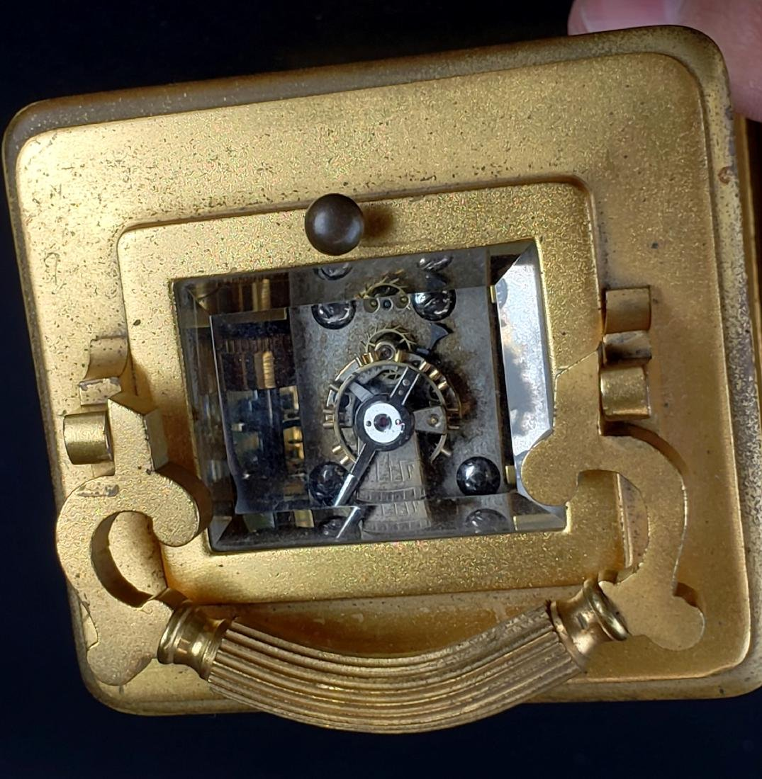 19th C. French Brass Carriage Clock - 7