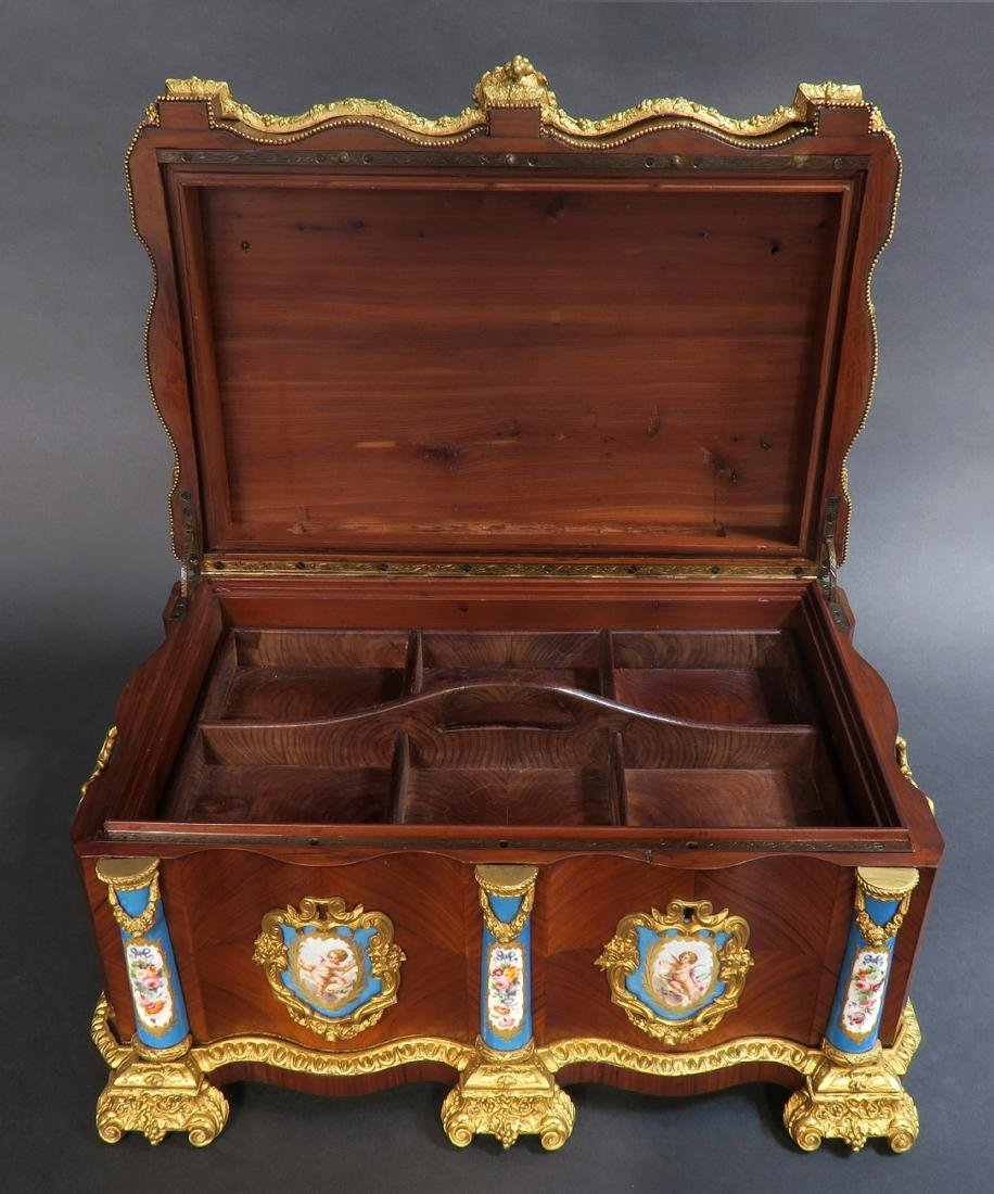 Monumental French Sevres Jewelry Box. 19th C. - 6