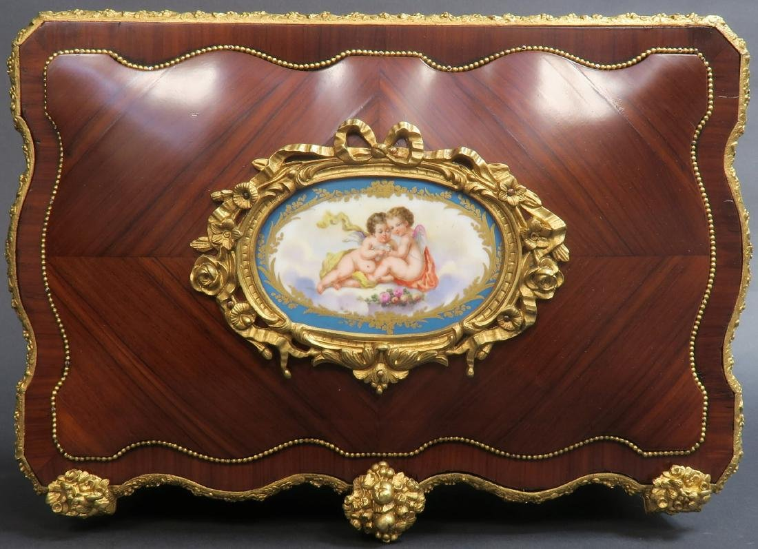 Monumental French Sevres Jewelry Box. 19th C. - 8
